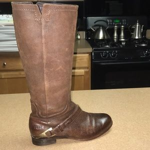 Ugg Channing Leather Riding Boots